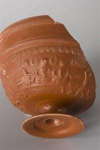Romeinse drinkschaal gevonden in Nijmegen, Museum Valkhof