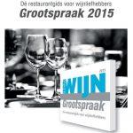 Grootspraak 2015: winnaars Lemongrass, Librije's Zusje en Wijn & Ko