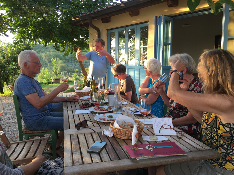 Aan tafel bij Janko Stekar